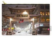 Boston Chinatown Gate During Snowsstorm Skylar Boston Ma Carry-all Pouch