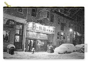 Boston Chinatown Snowstorm Tyler St Black And White Carry-all Pouch