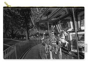 Boston Common Carousel Boston Ma Black And White Carry-all Pouch