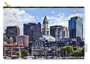 Boston Ma - Skyline With Custom House Tower Carry-all Pouch
