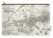 Boston Map, 1722 Carry-all Pouch by Granger