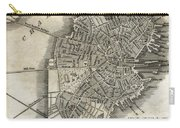 Boston Map Of 1842 Carry-all Pouch