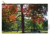 Boston Public Garden Autumn Tree Morning Light Walk In The Park Carry-all Pouch