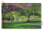 Boston Public Garden Pond Through The Cherry Blossom Spring Day Carry-all Pouch
