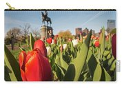 Boston Public Garden Tulips And George Washington Statue 2 Carry-all Pouch