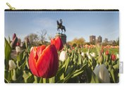 Boston Public Garden Tulips And George Washington Statue Carry-all Pouch