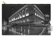 Boston Public Library Rainy Night Boston Ma Black And White Carry-all Pouch