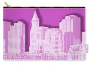Boston Skyline - Graphic Art - Pink Carry-all Pouch