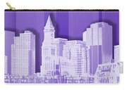 Boston Skyline - Graphic Art - Purple Carry-all Pouch