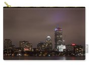Boston Skyline In Red, White And Blue Boston Massachusetts Carry-all Pouch
