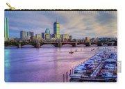 Boston Skyline Sunset Carry-all Pouch by Joann Vitali