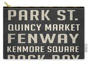 Boston Subway Stops Poster Carry-all Pouch
