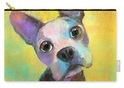 Boston Terrier Puppy Dog Painting Print Carry-all Pouch