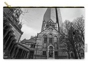 Boston Trinity Church And Hancock Building Boston Ma Black And White Carry-all Pouch