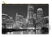 Boston Waterfront Black And White Carry-all Pouch