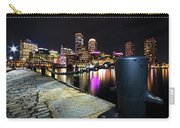 Boston Waterfront Skyline View Boston Ma Carry-all Pouch