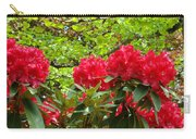 Botanical Garden Art Prints Red Rhodies Trees Baslee Troutman Carry-all Pouch