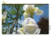 Botanical Landscape Trees Blue Sky White Irises Iris Flowers Carry-all Pouch