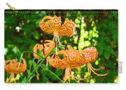 Botanical Master Gardens Art Prints Orange Tiger Lilies Baslee Troutman Carry-all Pouch