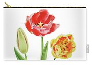Botanical Tulip Bouquet Watercolor Carry-all Pouch