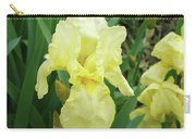 Botanical Yellow Iris Flower Summer Floral Art Baslee Troutman Carry-all Pouch
