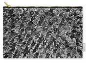 Bottle Wall Black And White Carry-all Pouch