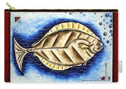Bottom Of The Sea Creature Original Madart Painting Carry-all Pouch
