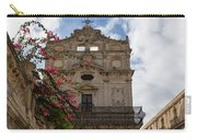 Sunlit Pink Bougainvillea At Santa Lucia Alla Badia Church In Syracuse Sicily Carry-all Pouch