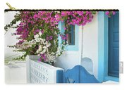 Bougainvillea In Santorini Island Carry-all Pouch