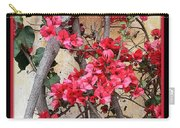 Bougainvillea On Mission Wall - Digital Painting Carry-all Pouch