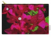 Bougainvillea / Textured  Carry-all Pouch