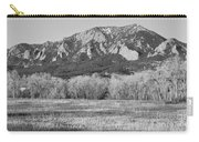 Boulder Colorado Flatiron View From Jay Rd Bw Carry-all Pouch