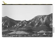 Boulder Colorado Flatirons And Cu Campus Panorama Bw Carry-all Pouch