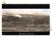 Boulder Colorado Sepia Panorama Poster Print Carry-all Pouch