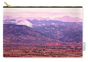 Boulder Colorado Sunrise Panorama Carry-all Pouch