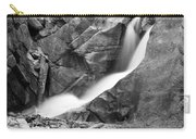 Boulder Falls Black And White   Carry-all Pouch