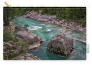 Boulder In The River - Slovenia Carry-all Pouch