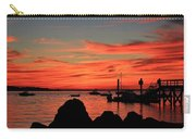 Rock Sunset Silhouette Carry-all Pouch