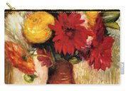 Bouquet Of Flowers In An Earthenware Pitcher Carry-all Pouch