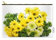 Bouquet Of Fresh Spring Flowers Isolated On White Carry-all Pouch