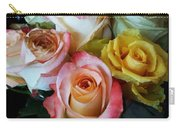 Bouquet Of Mature Roses At The Counter Carry-all Pouch