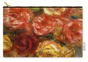Bouquet Of Roses In A Vase 1900 Carry-all Pouch