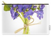 Bouquet Of Violets Carry-all Pouch by Elena Elisseeva