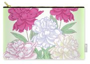 Bouquet With White And Pink Peonies.spring Carry-all Pouch