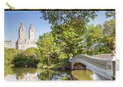Bow Bridge In Spring, Central Park, Manhattan, New York, Usa Carry-all Pouch