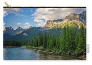 Bow River And Three Sisters Canmore Carry-all Pouch