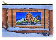 Bow Valley Parkway Snowy Entrance Carry-all Pouch