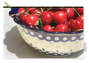 Bowl Of Cherries With Shadow Carry-all Pouch