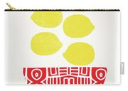 Bowl Of Lemons- Art By Linda Woods Carry-all Pouch