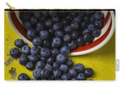 Bowl Pouring Out Blueberries Carry-all Pouch